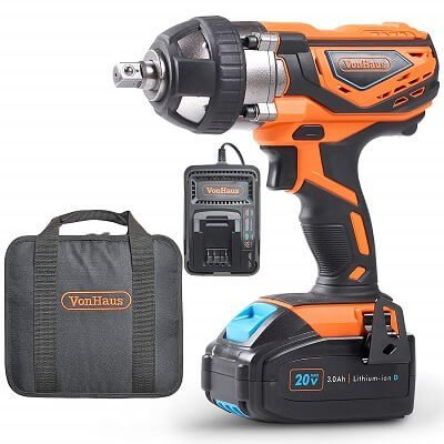 VonHaus 20V MAX Cordless Impact Wrench Set