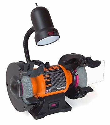WEN 4276 2.1-Amp 6-Inch Bench Grinder with Flexible Work Light